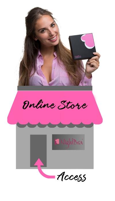 Online Store NightBra, the best anti-wrinkle bra of the cleavage